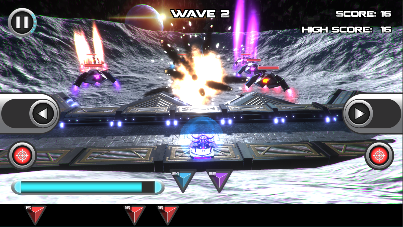 A screenshot of a sci-fi action game called FerroCity.
